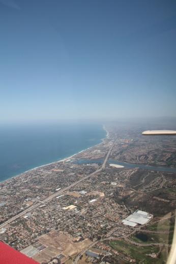 Southern California coast line